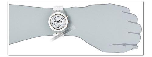 relógio swatch irony skull feminino swiss original branco