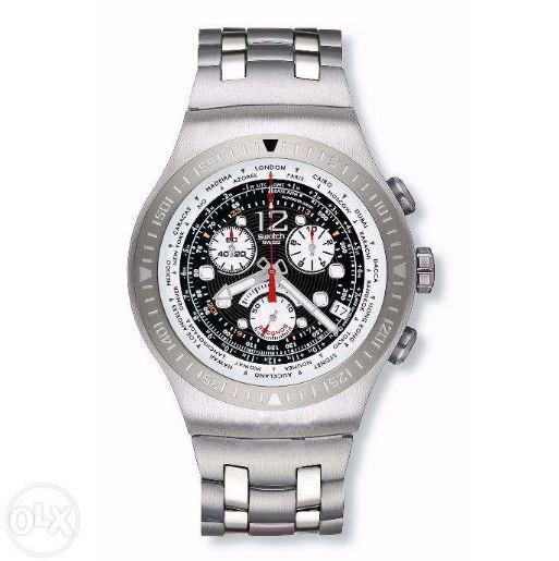 e7923a8127b Relógio Swatch Irony Stainless Steel Patented Prova D água - R  734 ...