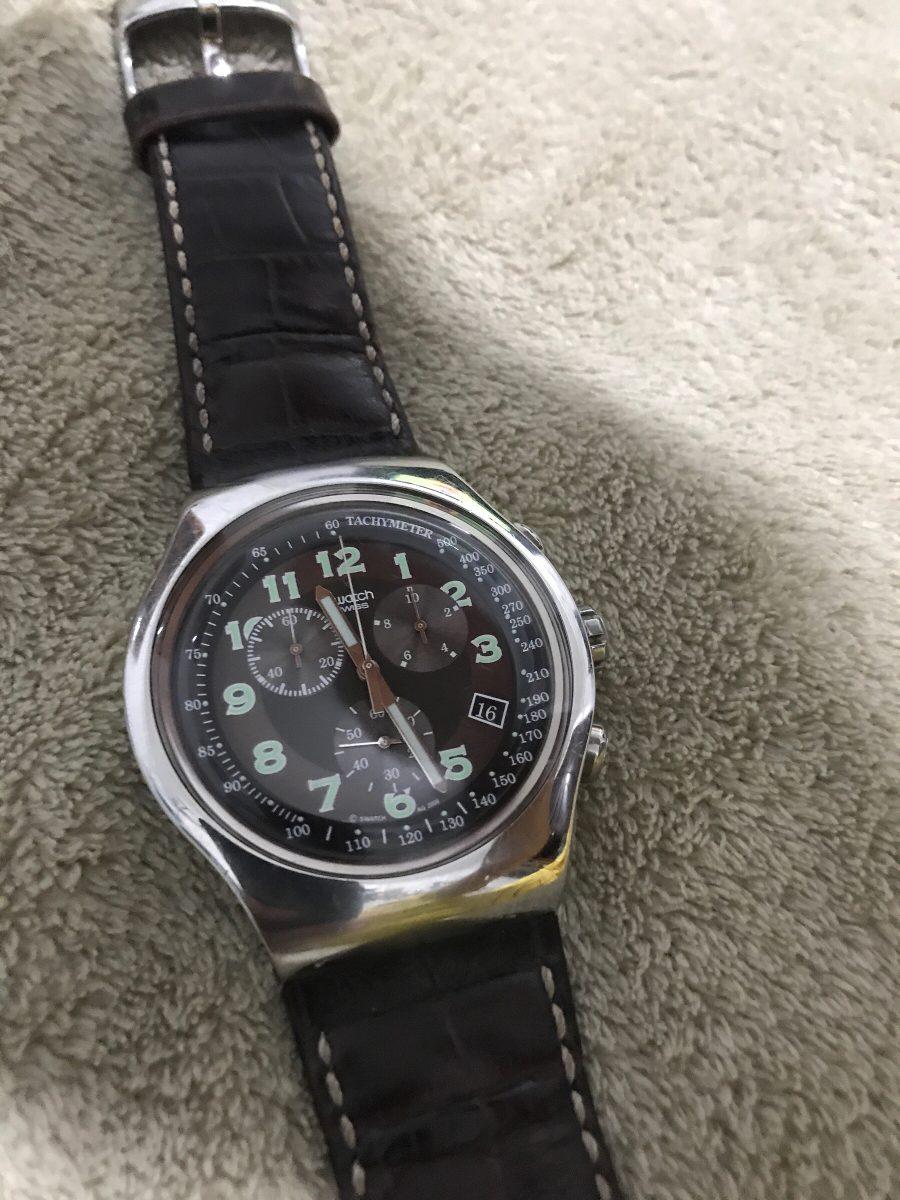 3e8d024735d relógio swatch irony the crono marron. Carregando zoom.