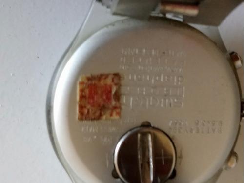relógio swatch prata