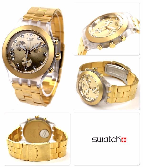 b38ed031c5b Relogio Swatch Svck4032g Full Blooded Dourado Original - R  998