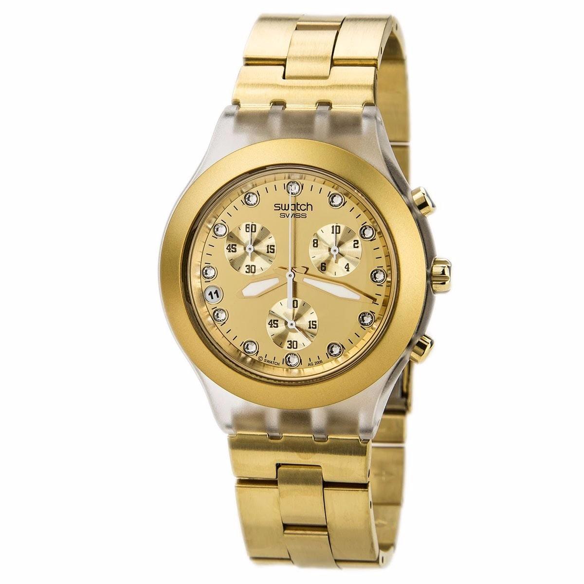 52dc3144e0b relogio swatch svck4032g full blooded dourado original. Carregando zoom.