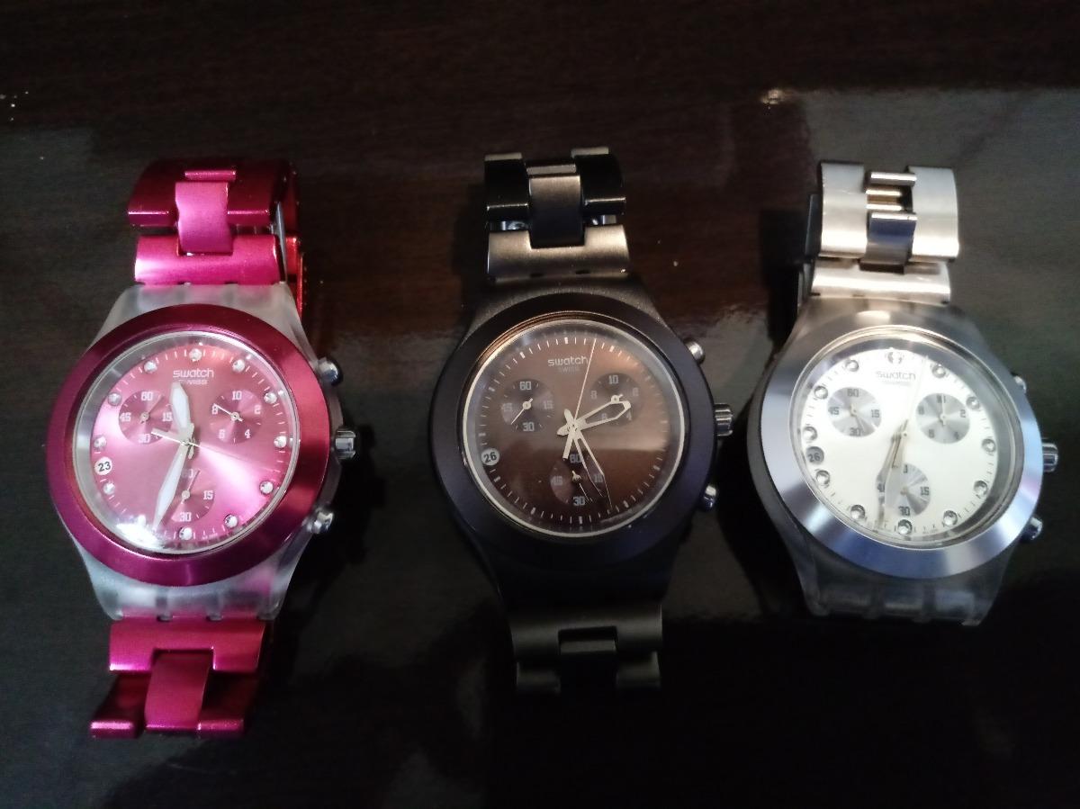 504d08cc57b relógio swatch swiss irony diaphane. Carregando zoom.