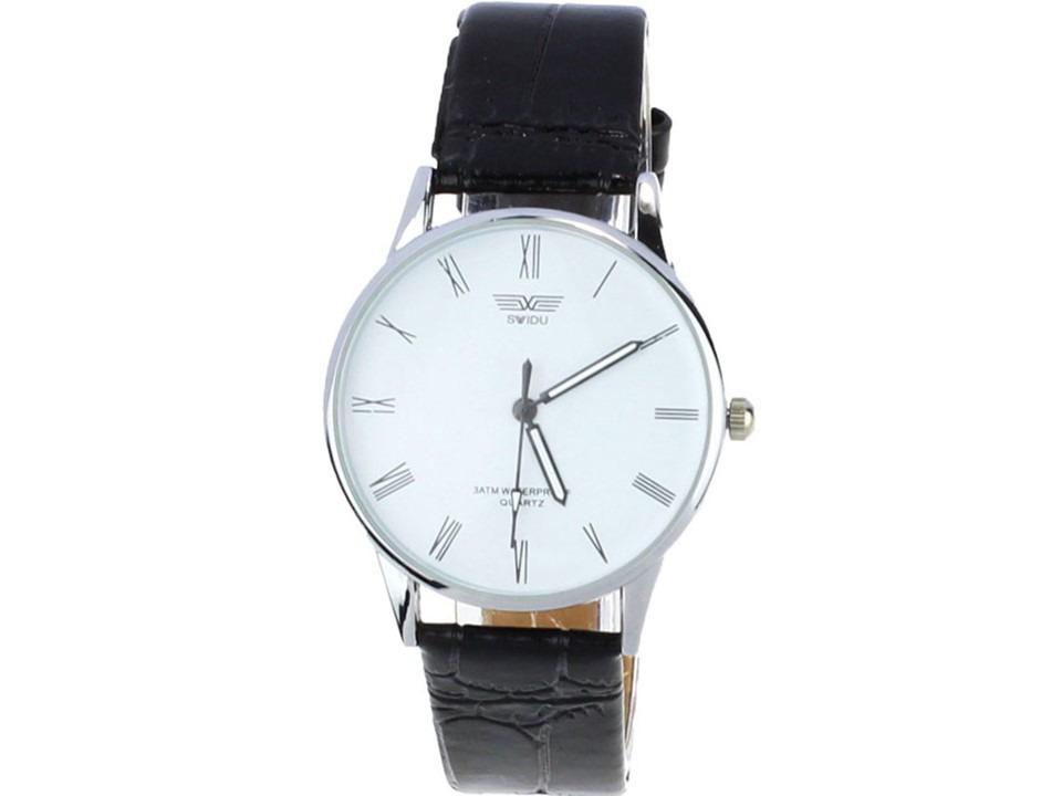 5d9b9462806 relógio swidu social pulseira de couro masculino barato. Carregando zoom.