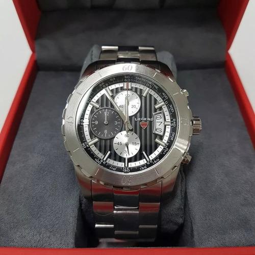 relógio swiss legend ld-1000-01 chronograph stainless steel