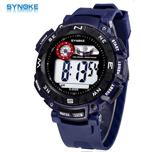 relógio synoke militar s-906b à prova d'água : frete gratis
