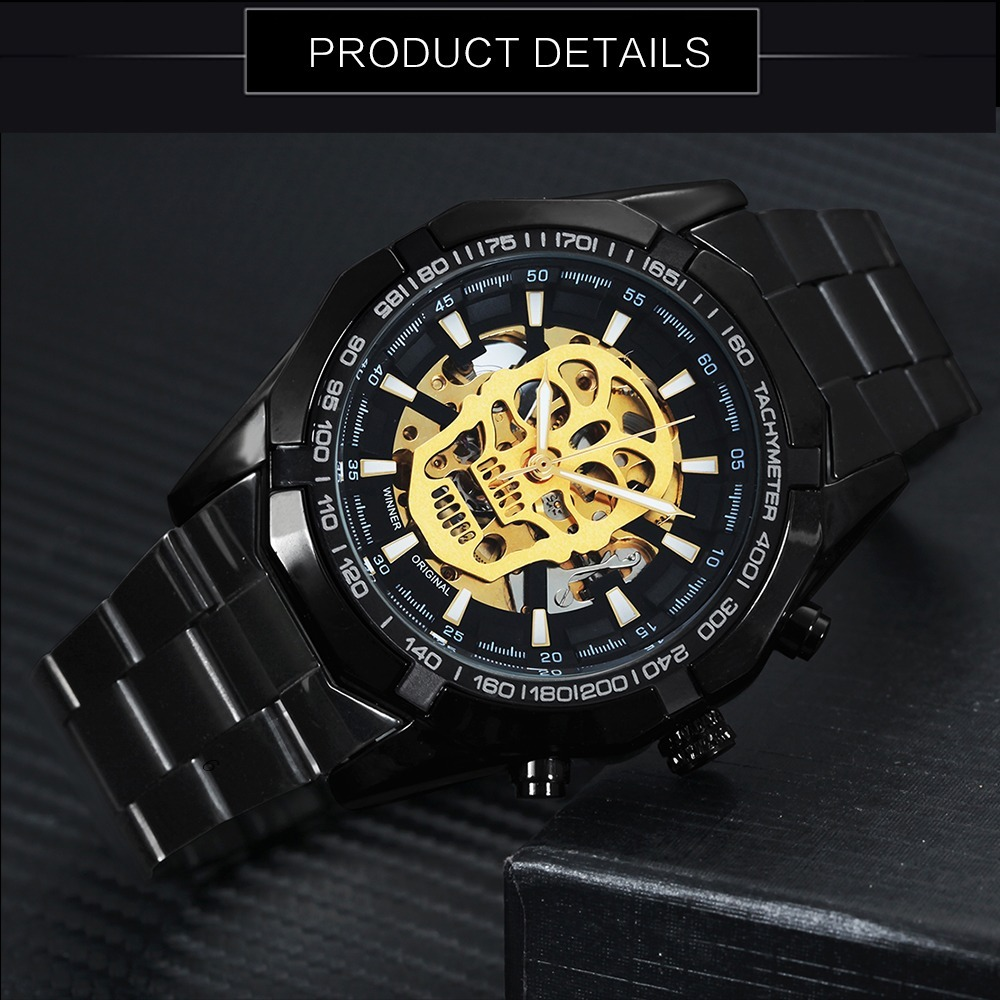 f29cc4b549e relógio t winner grandmeister caveira skull watch waterprof. Carregando zoom .