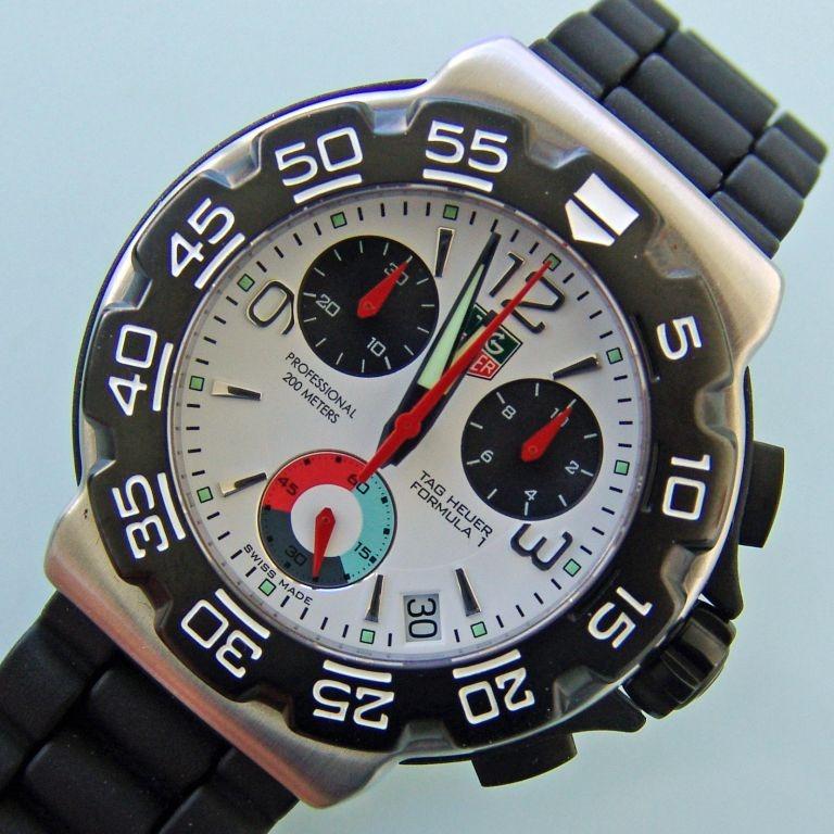 9d2801de23a Relógio Tag Heuer Cac1111 0 F1 Bt0705 Borracha Formula 1 One - R ...