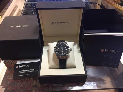 relógio tag heuer aquaracer calibre 5 500m waj2110 automatic