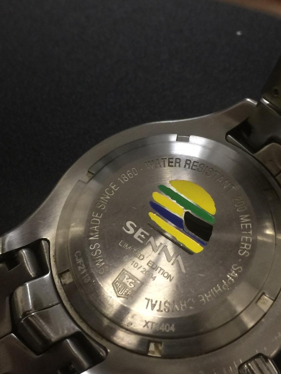 8fb9add6666 relógio tag heuer ayrton senna link 2004 - edição limitada. Carregando zoom.