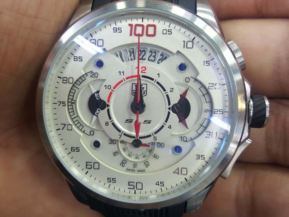 25fdaac1c69 relógio tag heuer carrera mercedez ponteiro vermelho. Carregando zoom.