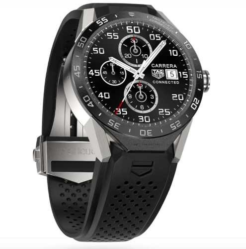 7138dee70ef Relogio Tag Heuer Connected Titanium Sar8a80. Smartwatch - R  11.979 ...