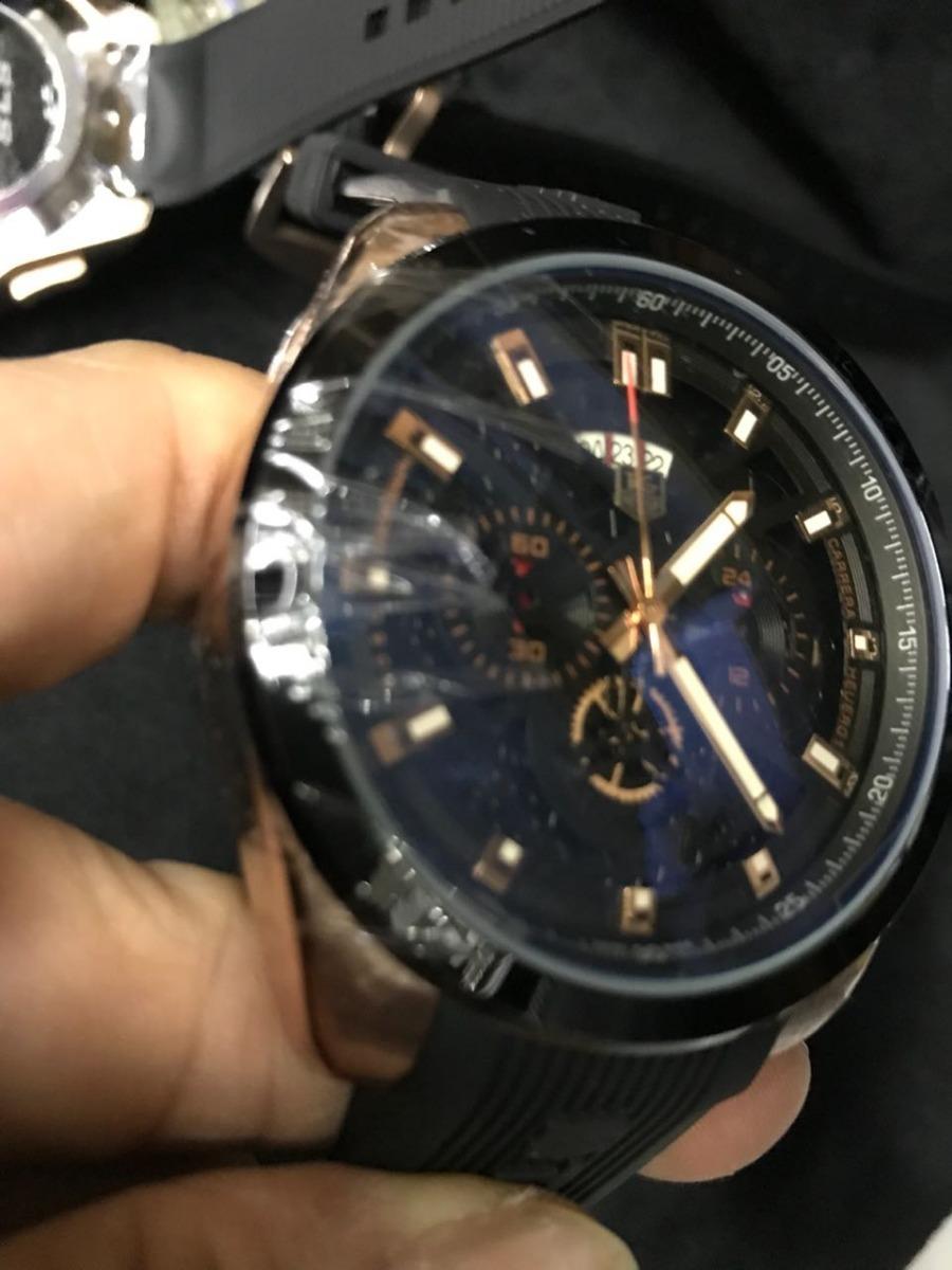 4b9bad83a65 Relógio Tag Heuer Ed. Grand Carrera Ls Luxo - Prova Dágua - R  499 ...