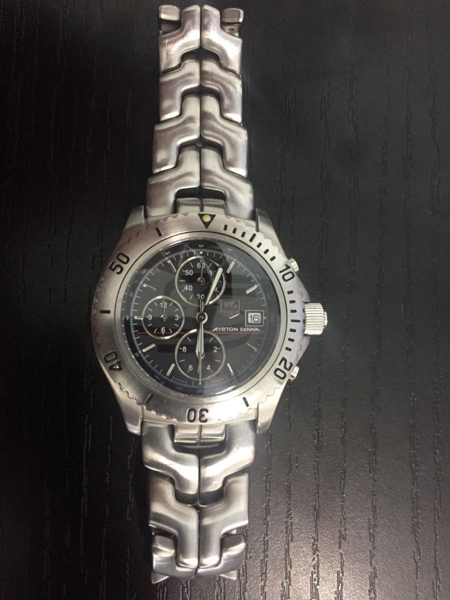 61bf8b293a2 relógio tag heuer ed. limitada 1991 ayrton senna ref  ct2114. Carregando  zoom.