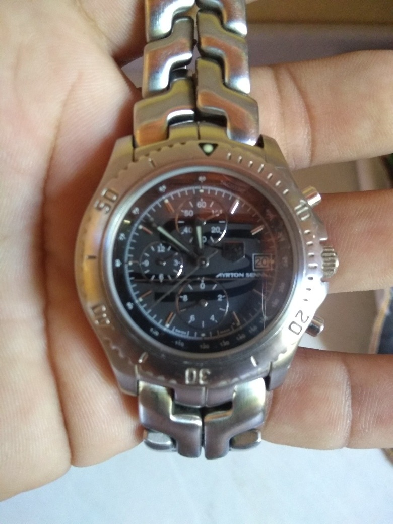 19c0b690b24 relógio tag heuer link edição limitada ayrton senna. Carregando zoom.