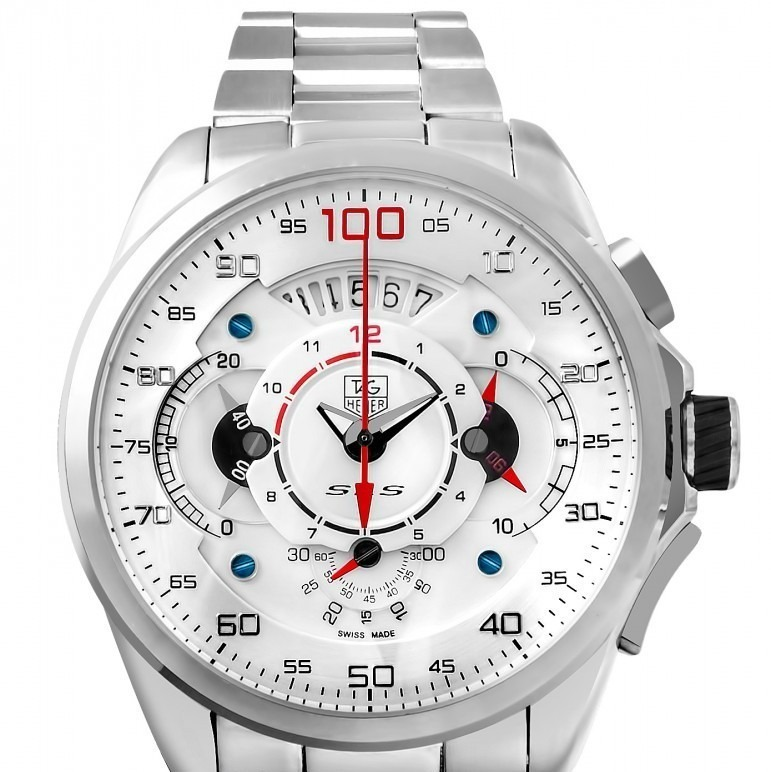 1ab0921bb45 Relógio Tag Heuer Mercedes-benz Sls Vidro Safira Branco - R  499