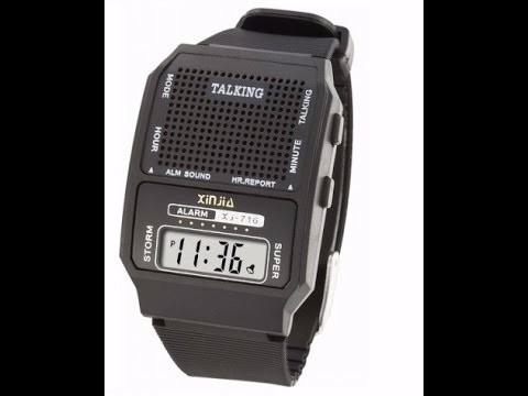 a84bc319c2c Relógio Talking Fala Hora Em Português P deficiente Visual - R  165 ...