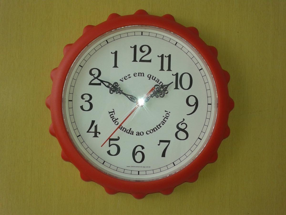 1d6c4970566 Relógio Tampa De Garrafa Anti-horário Standard - R  45