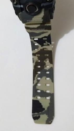 relógio tático camuflado tan  multicam
