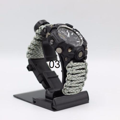 relógio tático /yuzex  survival gear 6 em 1 /militar/camping