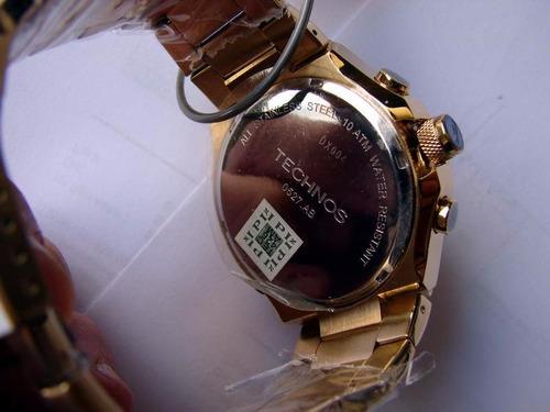 relogio technos 0527ab/4x alarm crono dat ostentação à vist
