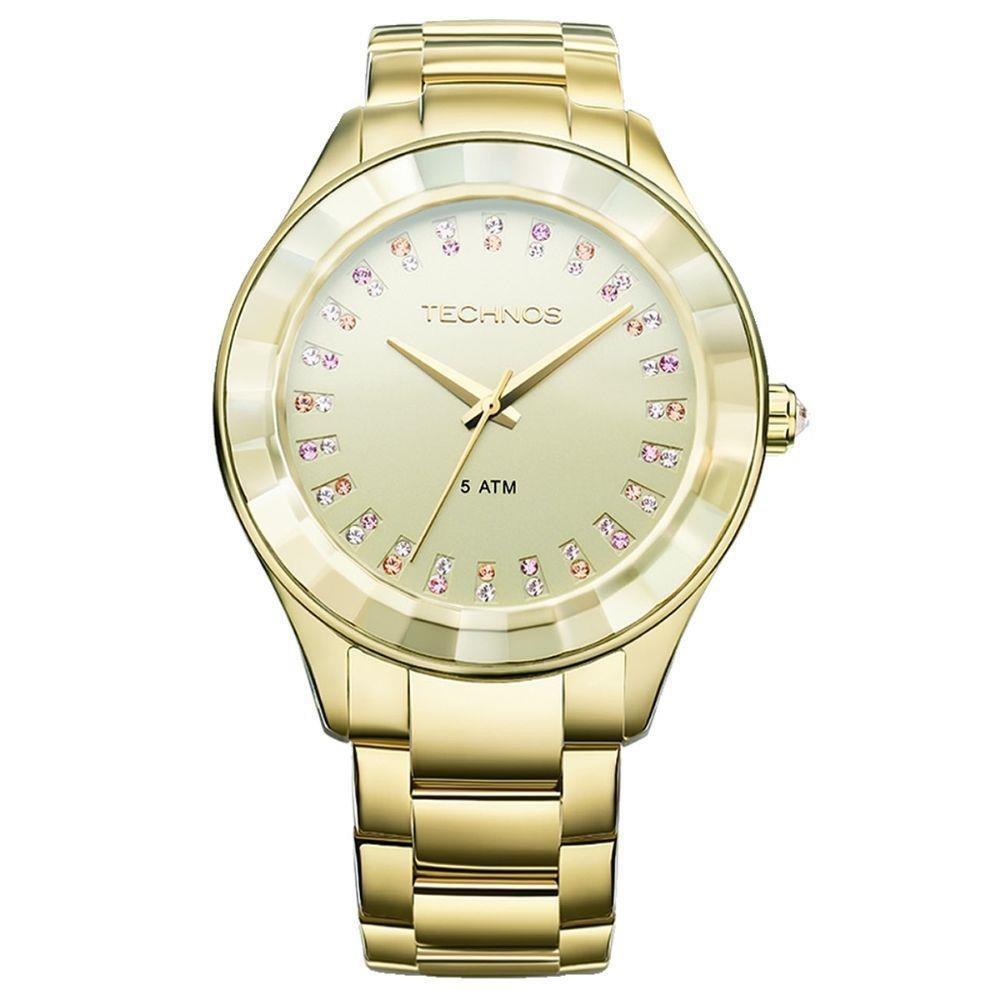 63b676e1ba604 Relógio Technos 2035ltv 4x 2035ltv 4x Dourado Ouro Swarovski - R ...