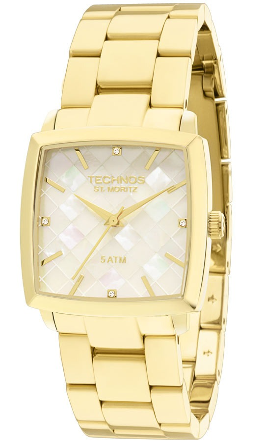 1c3be62e42558 Relógio Technos 2036lmy 4b 2036lmy 4b Dourado Ouro St Moritz - R ...
