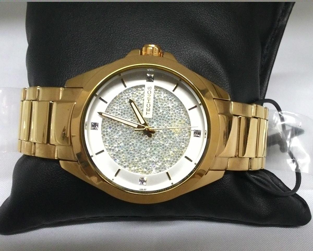 41d8a9d88af98 Relógio Technos 203aaa 4k 203aaa 4k Dourado Ouro Swarovski - R  599 ...
