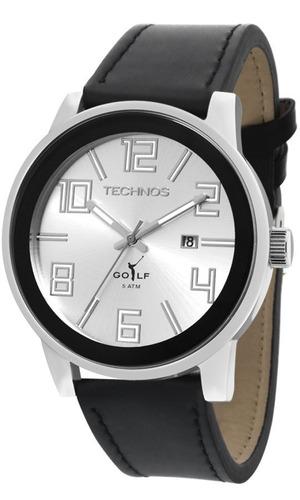 relógio technos 2115kqx/3k classic golf  masculino