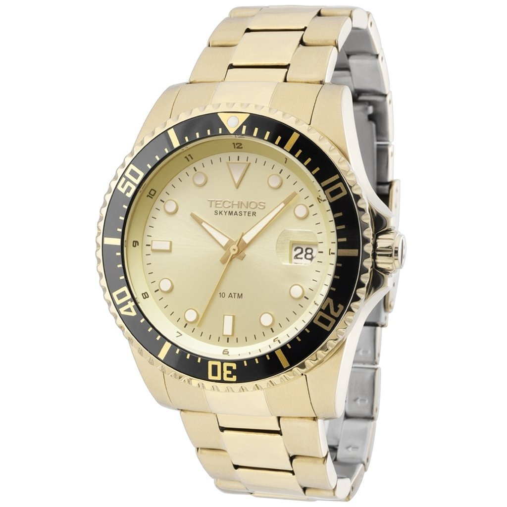 Relógio Technos 2415ce 4d (aço Inox, Dourado, Analógico) - R  580,00 ... 45998425ef