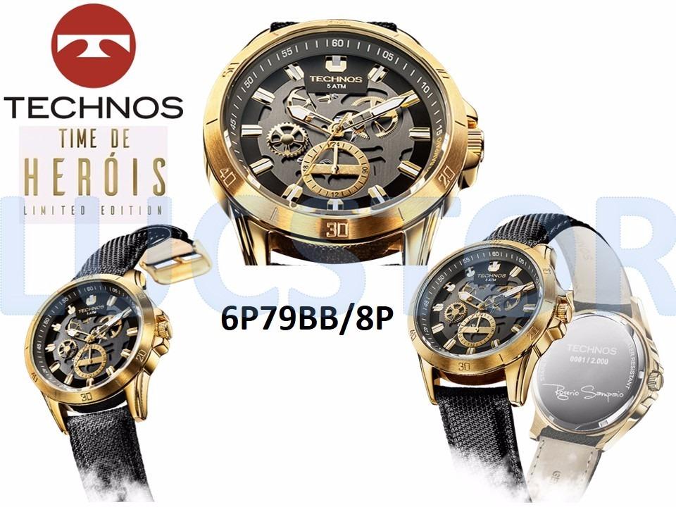 ecf27ac40a0 relógio technos 6p79bb 8p rogerio sampaio ediçao limitada. Carregando zoom.