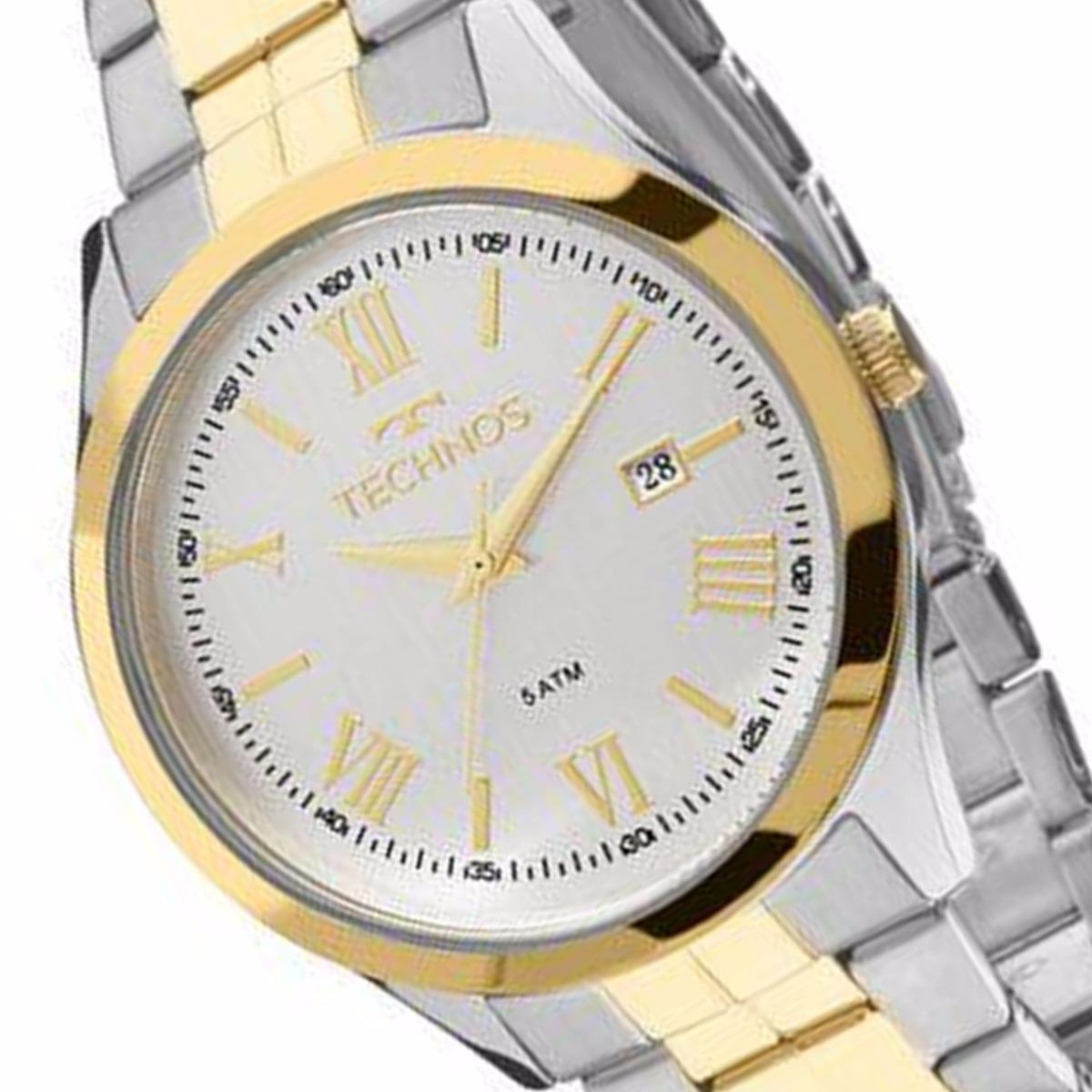 2e765ae1324 Relógio Technos Aço Com Dourado Masculino 50 M 2115mgn 5k - R  318 ...