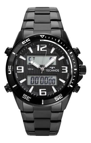 relógio technos anadigi masculino original tc131017c/4p