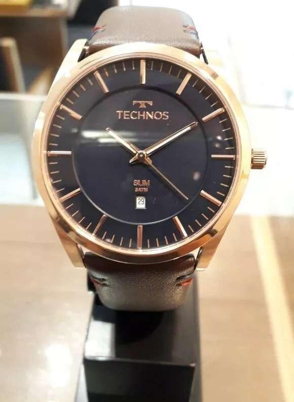 5077e9367fe6b Relógio Technos Analógico Classic Slim Gm10yh 2a Rose azul - R  519 ...