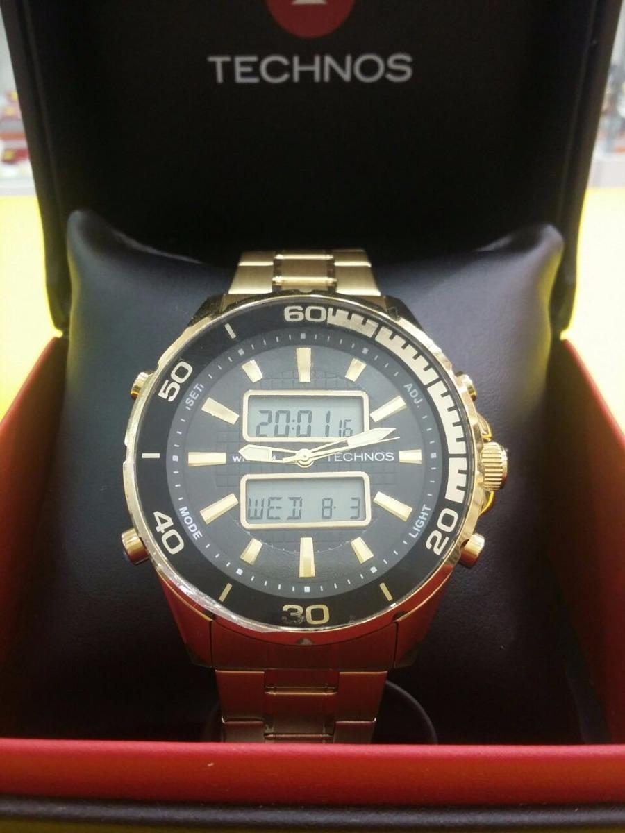 46688b0f63da8 relógio technos analógico e digital dourado cq363a 4p+ frete. Carregando  zoom.
