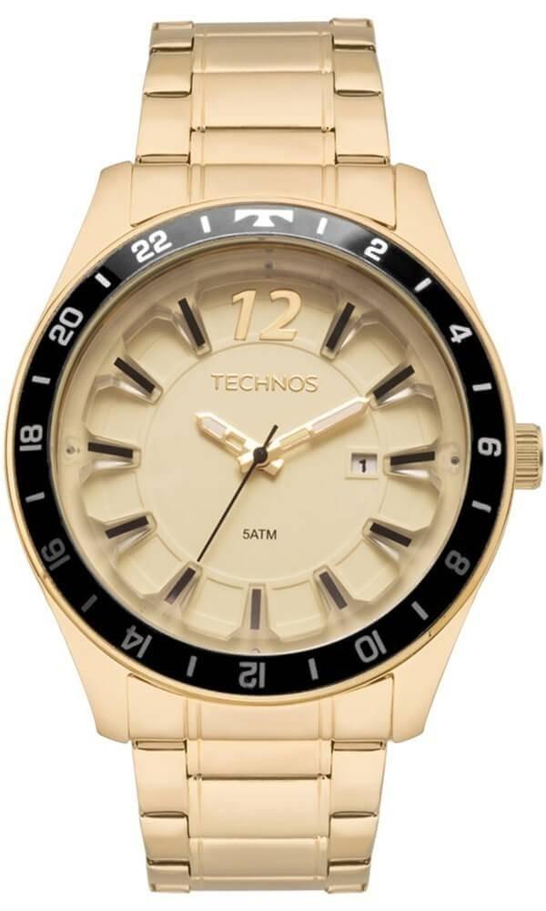 relógio technos analógico performance dourado 2117las 4x. Carregando zoom. 095e8133a7