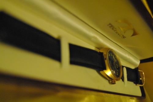 relógio technos - anos 70 - folheado a ouro