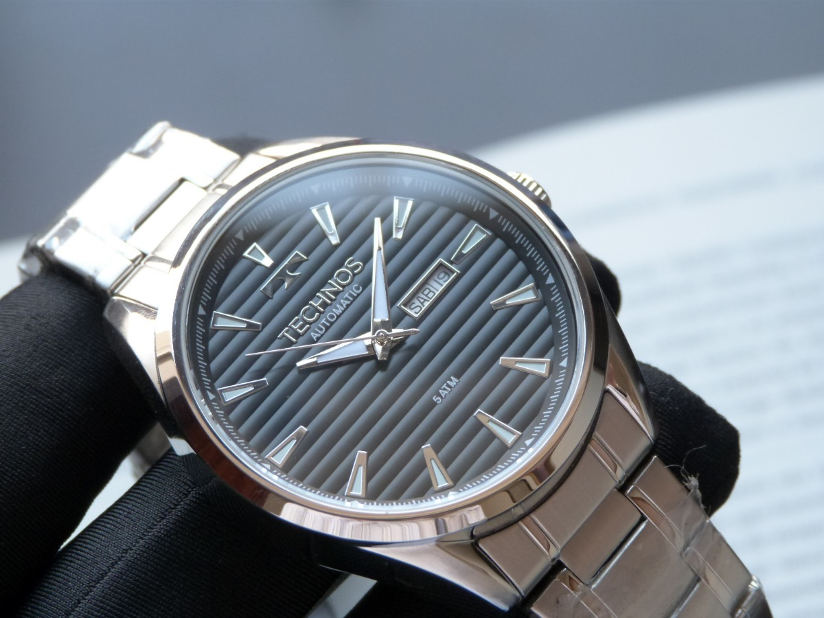 2a6a374d87f26 relógio technos automático 8205nw 0p preto máquina miyota. Carregando zoom.