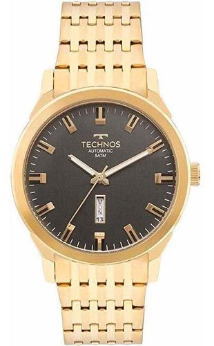 relógio technos automático dourado masculino 8205of/4p