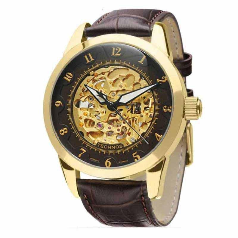 Relógio Technos Automático Esqueleto Masculino 8n24ab 2m - R  742,00 em  Mercado Livre 20ac18483a