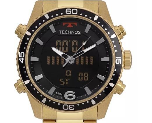 1633357a76360 Relógio Technos Bjk203aad 4p Anadigi Bjk203aad 4p Dourado - R  559 ...