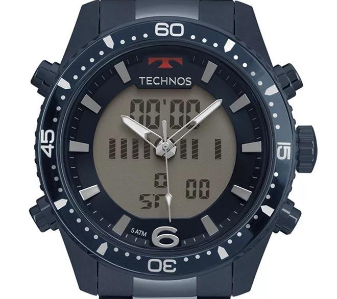 bed938c570307 Relógio Technos Bjk203aae 4a Anadigi Bjk203aae 4a Azul - R  579