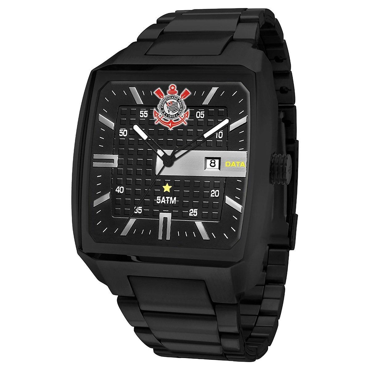 relógio technos black timão corinthians pulseira aço novo! Carregando zoom. de841120ce