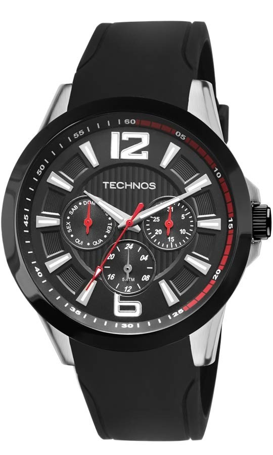 758cd32e9e9f6 relógio technos borracha masculino garantia 6p29ahc 8p nota. Carregando  zoom.