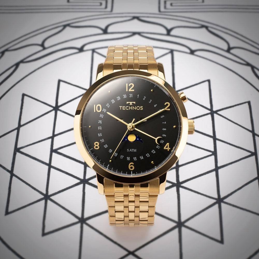 2167ff3b1ed relógio technos calendário lunar masculino dourado 6p80ac 4p. Carregando  zoom.