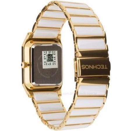 38ab44ec70618 Relógio Technos Ceramic Sapphire 2036lmp 4b Branco dourado - R  450 ...