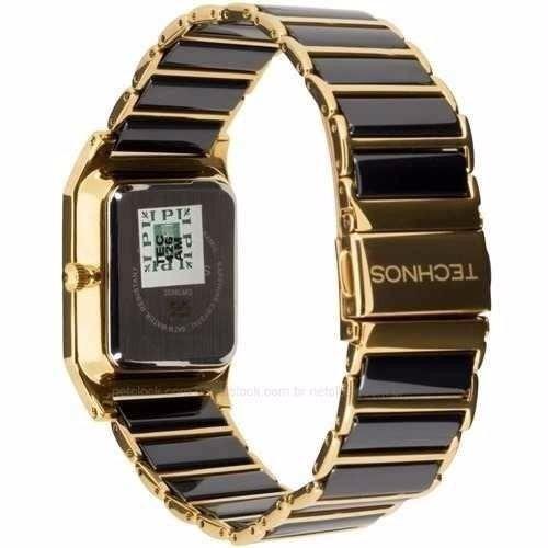 6f8d2272a67 Relógio Technos Ceramic sapphire Preto dourado Ref 2036lmq 4 - R ...