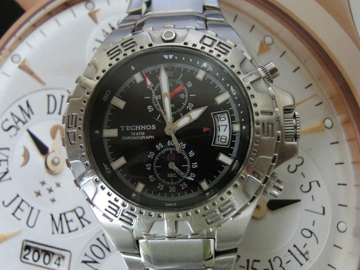 72ec199261e relógio technos chronograph masculino - wr 100 - novíssimo ! Carregando  zoom.