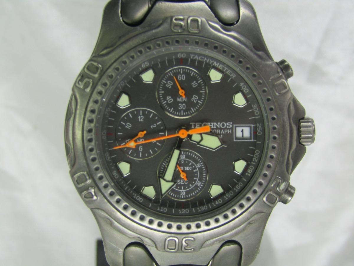 69beab86c92 relógio technos chronograph titânium garantia relogiodovovô. Carregando  zoom.