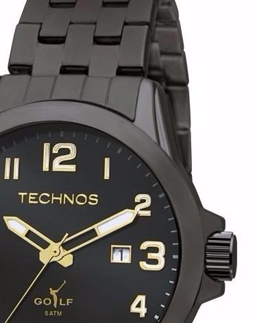 0217b6e047f Relógio Technos Classic Golf 2115knx 1p - R  299